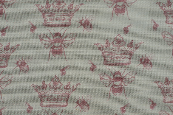 Queen Bee Rose fabric sample