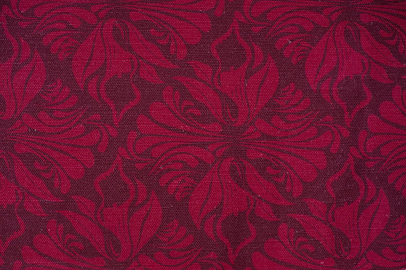 Calla Lily Crimson Berry fabric sample