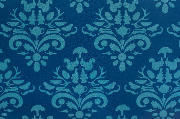 Willis Blue How Very British wallpaper in Indigo. A warm blue wallpaper in a classic design for beautiful homes.