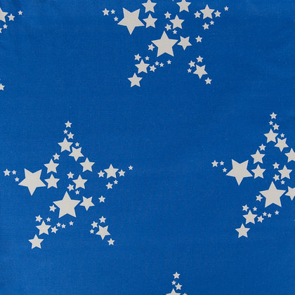 Star Bright fabric by Willis Bloom in Bonny Blue. Kids room inspiration.