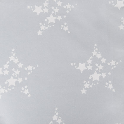 Star Bright fabric for childrens room in soft grey