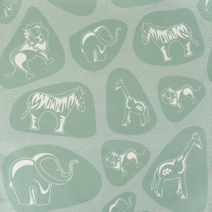 Pebble Safari Green fabric by Willis Bllom. Ideas for childrens curtains and bedrooms