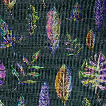 Foliage cotton tea towel by Willis Bloom. Designed and made in England.