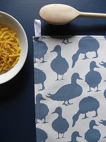 Duck Summer Sky Willis Bloom Tea towel.j