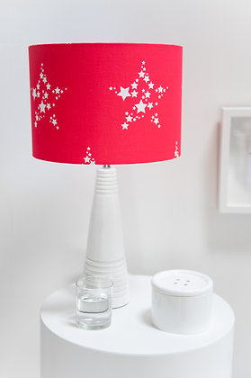Star Bright in Perfect Red lampshade by Willis Bloom