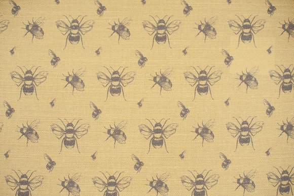 Bee Coal & Honey fabric sample