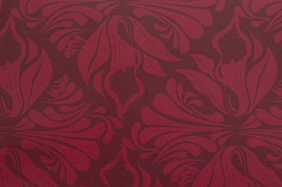 Willis Bloom Calla Lily Wallpaper in Crimson Berry.