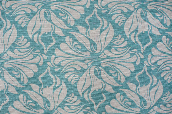 Calla Lily Cornflower Blue fabric sample