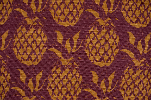 Pineapple Garnet fabric sample