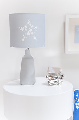 Star Bright Gentle Grey Lampshade by Willis Bloom