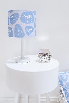 Pebble Safari Blue Lampshade by Willis Bloom
