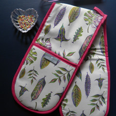 Oven Glove Foliage Natural Leaves Willis