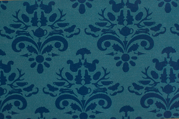 Willis Blue How Very British wallpaper in Majestic mushroom. Wallpaper in a classic design with a twist for beautiful homes.