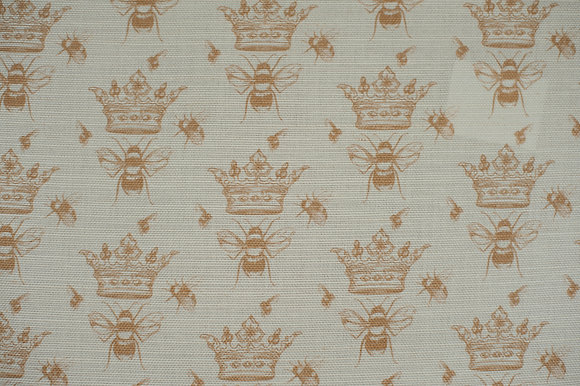 Queen Bee Natural fabric sample
