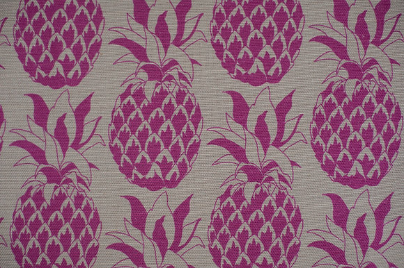 Pineapple Fuschia fabric sample