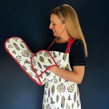 Abi Willis Bloom Natural LEaves Oven Glove and Apron1.jpg