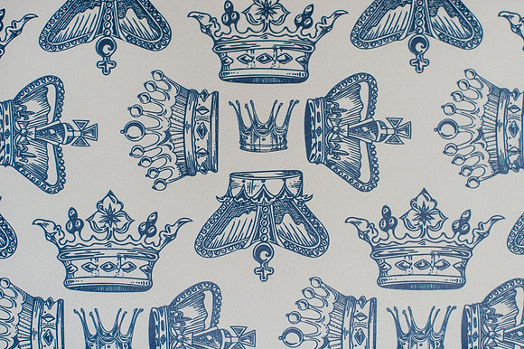 Regal Beauty Oxford Blue wallpaper sample