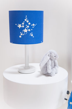Star Bright in Bonny Blue lampshade by Willis Bloom