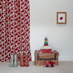 Duck fabric in Jam Red