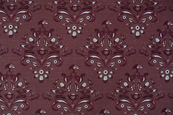How Very British Plum fabric sample