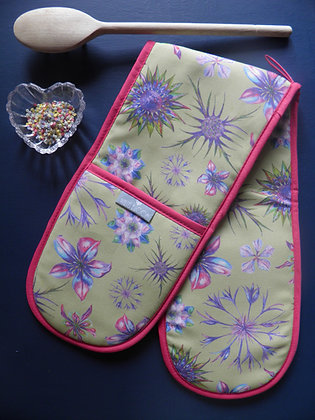 Double Oven Glove: Country Blooms