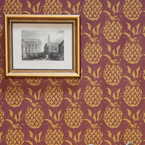 Pineapple Wallpaper in Garnet