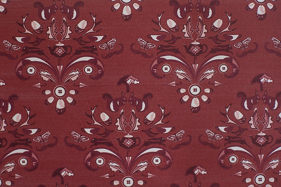 Willis Blue How Very British wallpaper in Plum. A warm mauve wallpaper in a classic design for beautiful homes.
