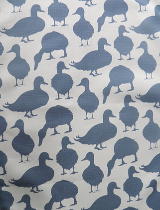 Duck Apron iSummer Sky Blue by Willis Bloom. Cotton apron, designed, printed and made in the UK.