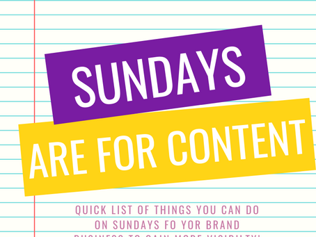 Sundays are for Content!!
