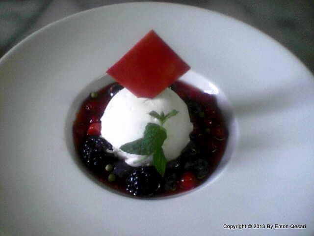 Cream cheese semifreddo dessert