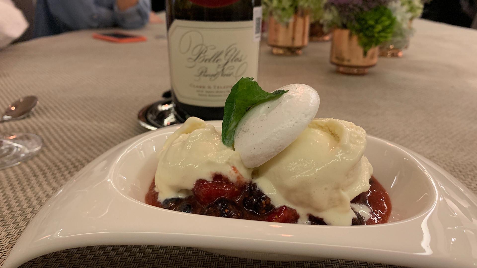 Mix Berries and gelato.