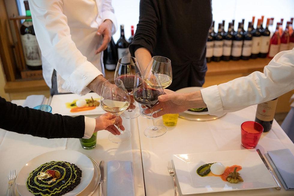 cheers wine classes, chef Enton Qesari