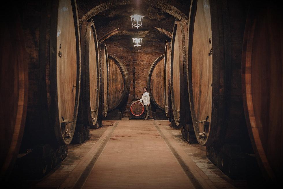 Montepulciano wine cellar