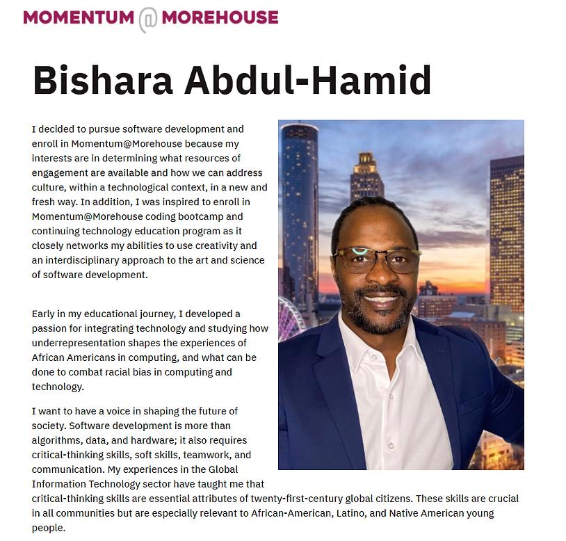 Bishara Abdul-Hamid Morehouse profile.pn