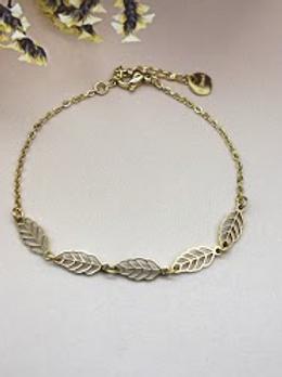 Bracelet chaine: feuilles
