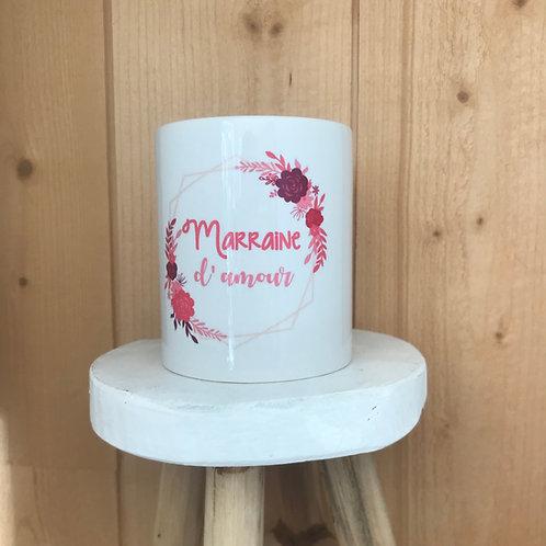 Mug: Marraine d'amour