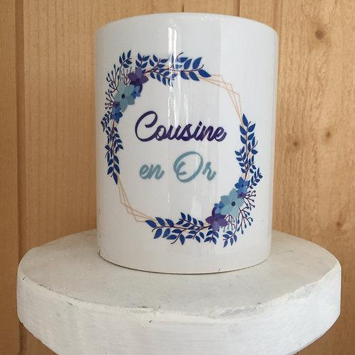 Mug: Cousine en Or