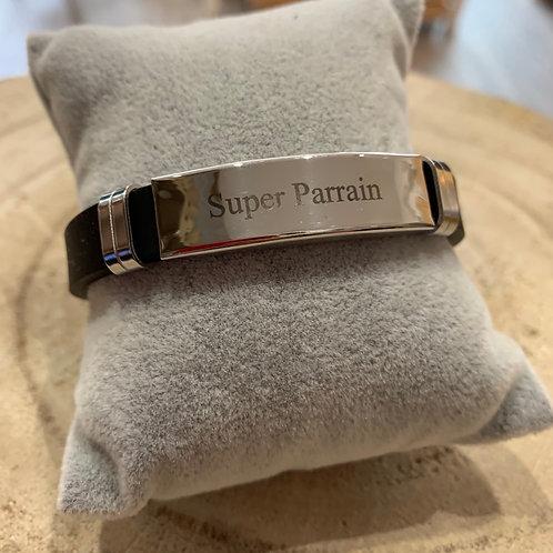 """Bracelet: """"Super Parrain"""""""