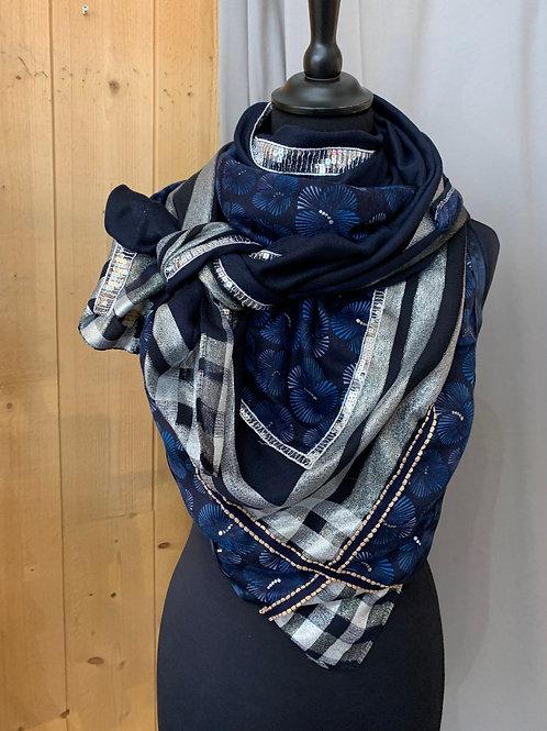 Foulard Triangle: bleu marine