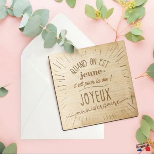 Carte Postale: Quand on est jeune : Joyeux anniversaire
