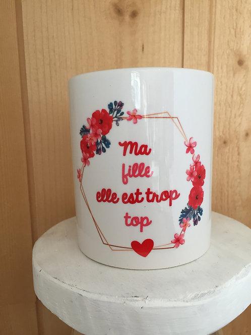Mug: Fille trop top