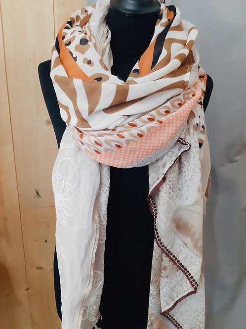 Foulard carré patchwork