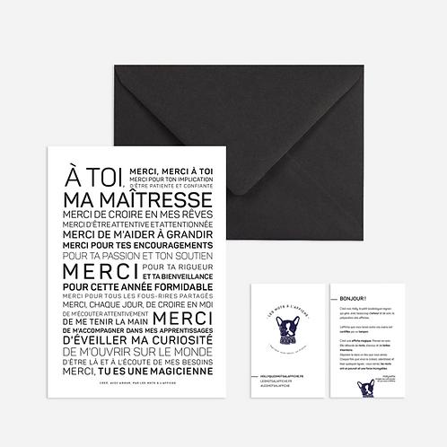 Carte Postale: Maîtresse