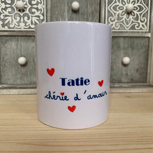 Mug: Tatie chérie d'amour