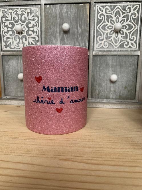 Mug paillettes: Ma maman chérie d'amour