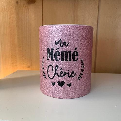 Mug paillettes: Mémé chérie