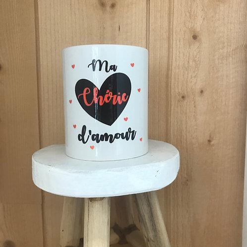 Mug: ma chérie d'amour