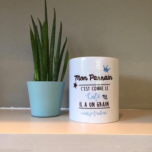 Mug: Parrain grain de café