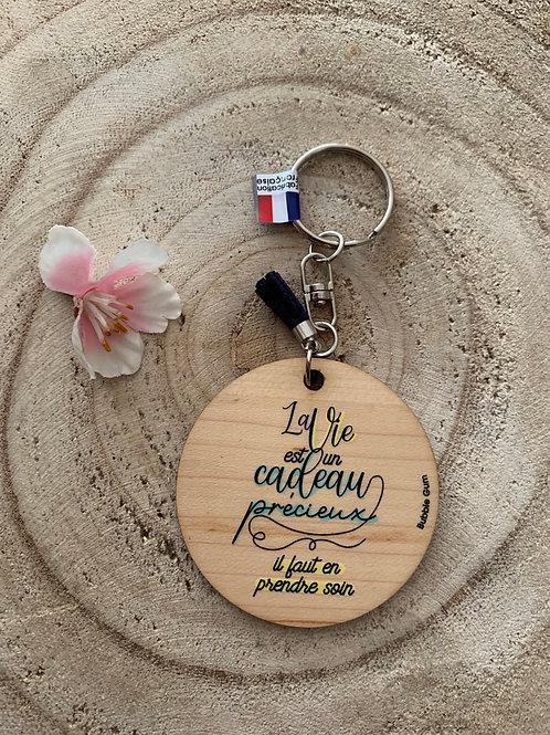 Porte clés: la vie est un cadeau