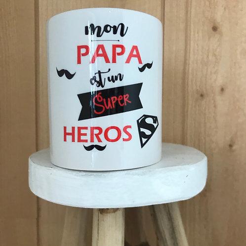 Mug: mon Papa est un super héros